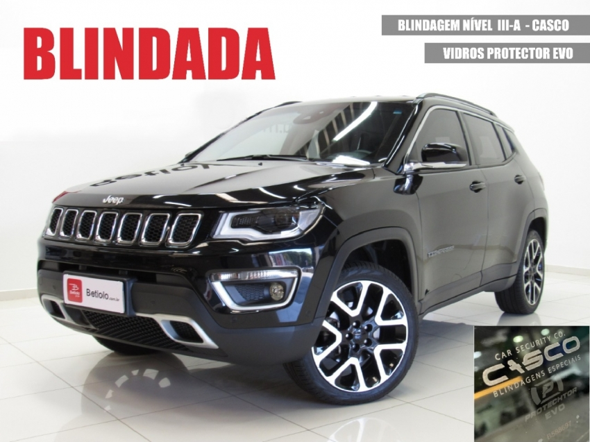 Jeep compass limited at9 2.0 4x4 blindada 2019 diesel 4p automatico