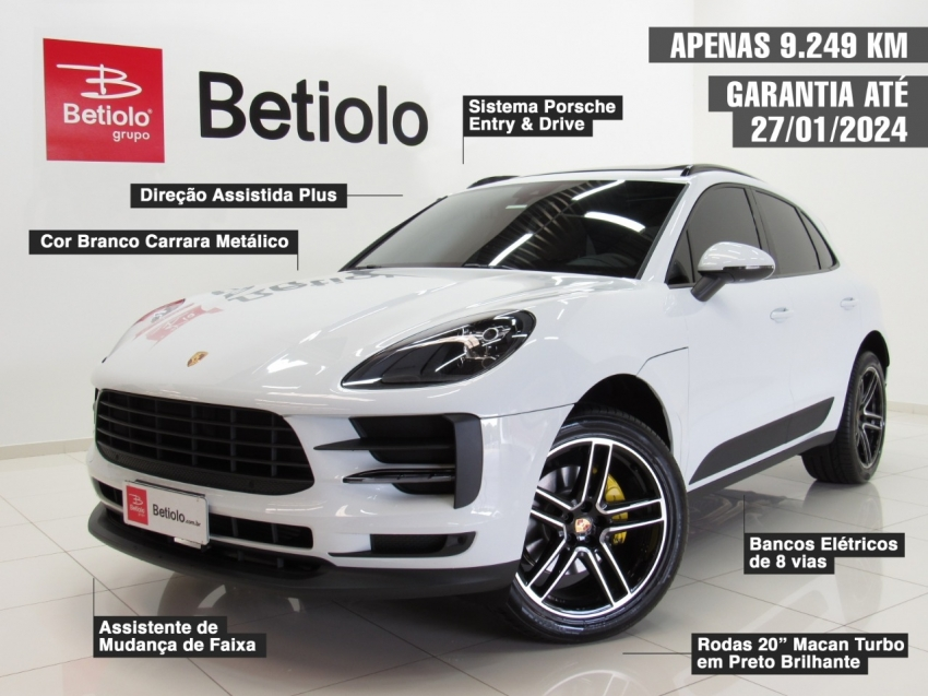 Porsche macan 2.0 turbo 4cc 252 cv 4x4 2021 gasolina 4p automatico